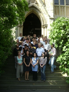 Group photo at the Balliol College yard